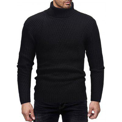 Men's Turtleneck Striped Sweater