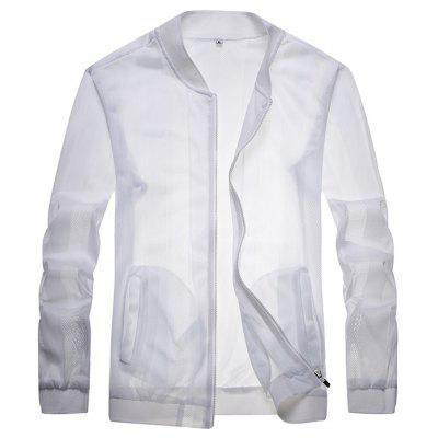 0121 Male Sun Protection Ultra-thin Breathable Jacket