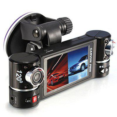 F600 Dual-lens Car DVR Camera Digital Video Recorder Image