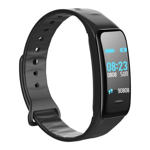 Gearbest Gocomma C1PLUS Color Screen Smart Bracelet - Black Blood Pressure Sleep Monitor