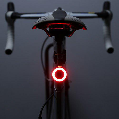2 LED Silicone Mountain Bike Bicycle Front Rear Lights Push Cycle Light Mount k