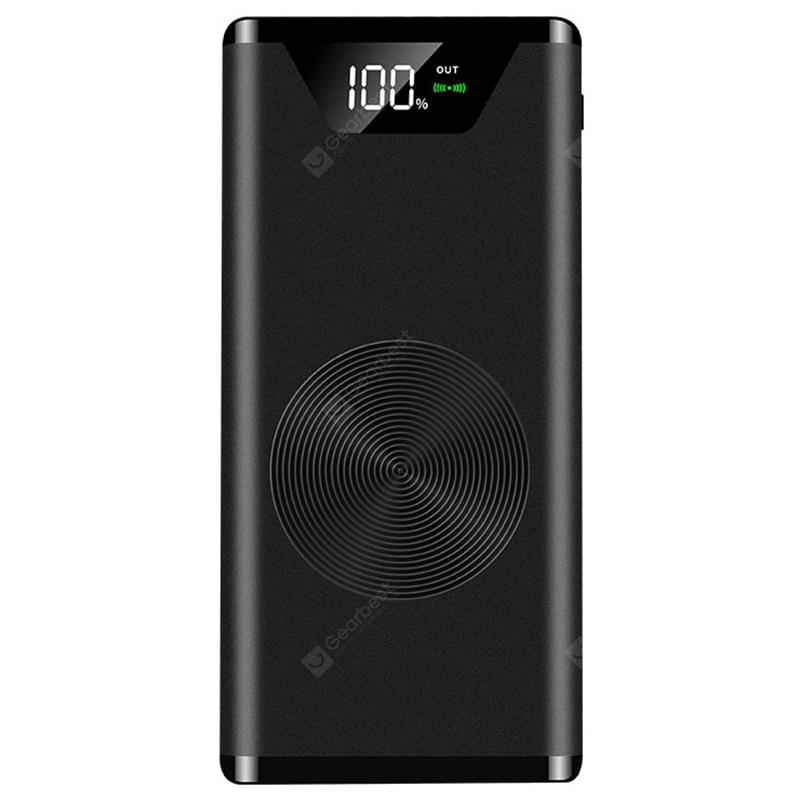 W - 5 Ultra-thin Universal Power Bank 20000mAh - Black