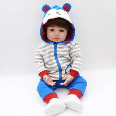 NPK 48cm Silicone Reborn Doll Baby Boy Doll for Children Gift Silicone Kids Toy