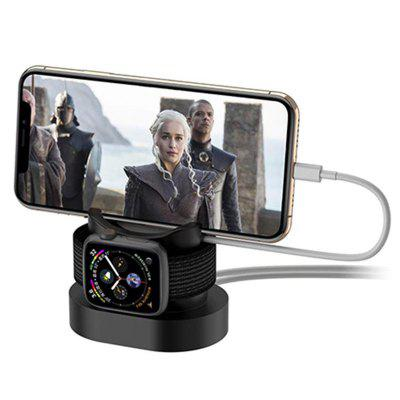 Supporto per telefono caricabatterie wireless 3 in 1 per iPhone / iWatch / Airpod
