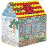 1280 Children's Tent Scrawl Graffiti Coloring Baby Play House - WHITE