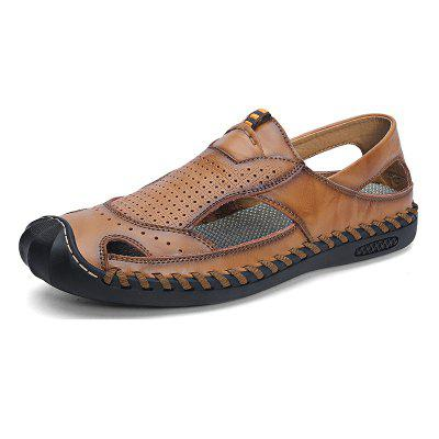 Men Fashion Leather Breathable Sandals