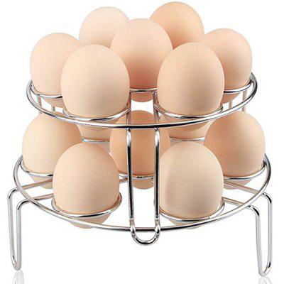 304 Stainless Steel Triangle 7 Hole Double Folding Egg Steaming Rack 2pcs