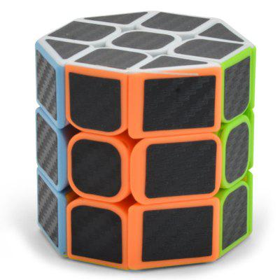 Cubo mágico do enigma octogonal da fibra do carbono