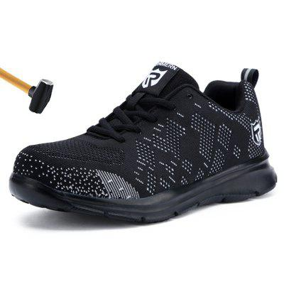 LARNMERN Steel Toe Safety Shoes Anti-puncture Construction Work Sneakers