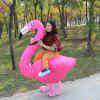 Adult Creative Halloween Christmas Flamingo Cosplay Dress Up Inflatable Suit - DEEP PINK