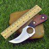 Outdoor Wooden Handle Straight Knife - PLATINUM