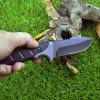 Outdoor Small Camping Straight Knife - BLACK