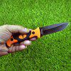 Outdoor Multifunction Survival Saber Camping Small Straight Knife - BEE YELLOW