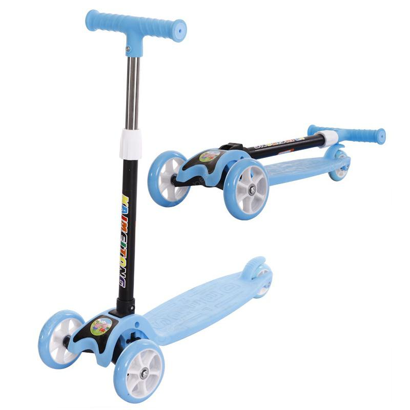 Kids Foldable Scooter Adjustable Tricycl
