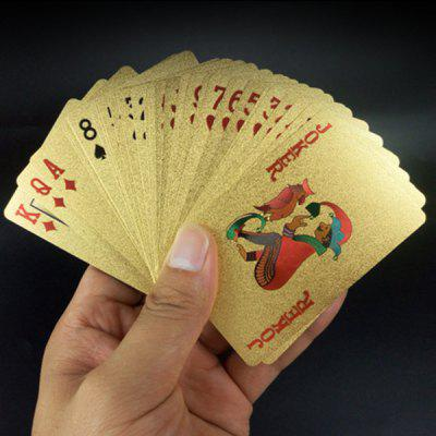 Gold Foil Plastic Playing Cards 54pcs