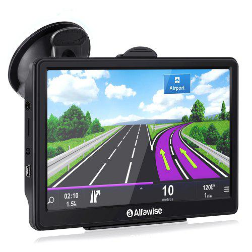 Gearbest Alfawise 7.0 inch Capacitive LCD Touch Screen Car GPS Navigator - Black Europe DDR256M with Free Built-in Maps Voice Navigation Media Player