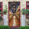 Mt333 Underground Wine Cellar Creative 3D Door Sticker 2pcs - MULTI