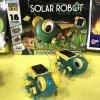 DIY Solar Robot Children's Educational Toy Set - MACAW BLUE GREEN