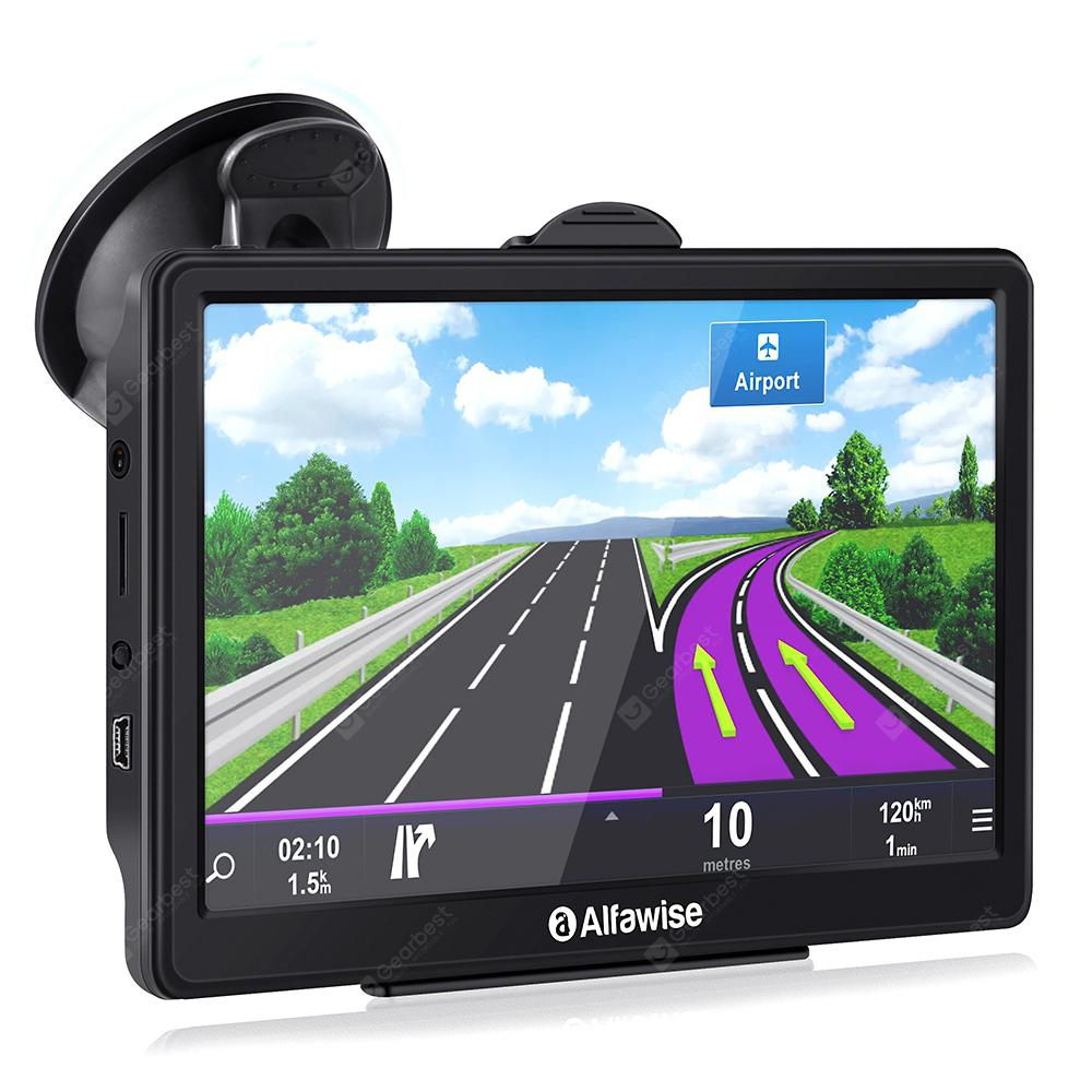 Alfawise 7.0 inch Capacitive LCD Touch Screen Car GPS Navigator