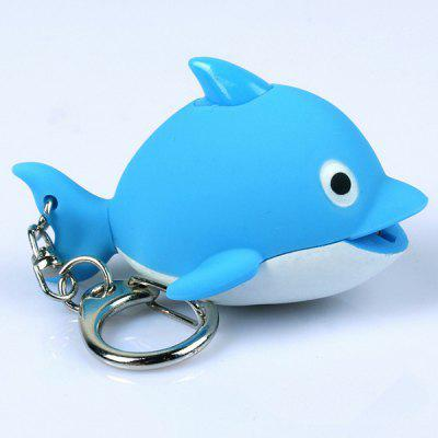 Glow Vocal Cute Marine Animals Dolphin LED Creative Keychain