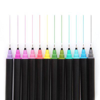 BEIFA RY241200 Colorful Filling Outline Double-headed Micro-porous Pen Painting Art 12pcs