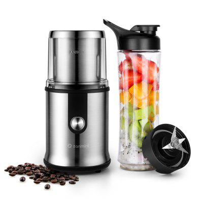 zanmini CG - 9430 Coffee Grinder with a Fruit Grinder Bottle Set