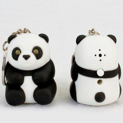 LED Cartoon Panda Small Animal Keychain