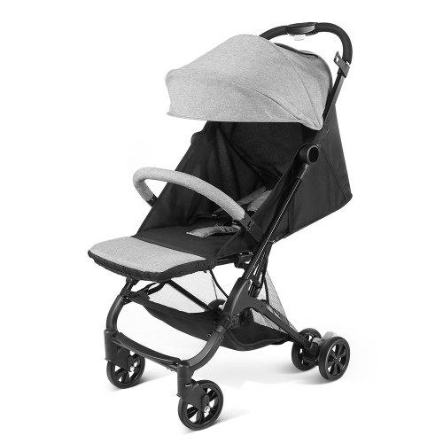 Alfawise A10 One Key Folding Baby Stroller Carrier – Gray 431420501 for 0 – 36 Months Old Outdoor Trip Guaranteed Safety