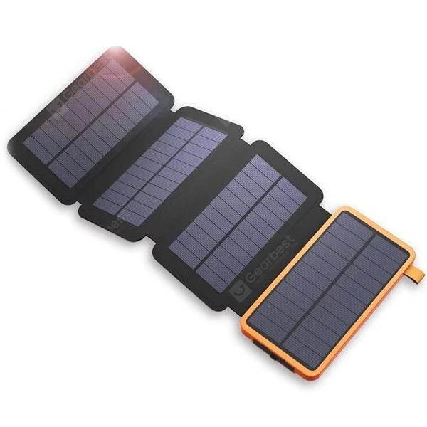 25000mAh Power Bank Waterproof Folding Solar Panel Charger - Orange