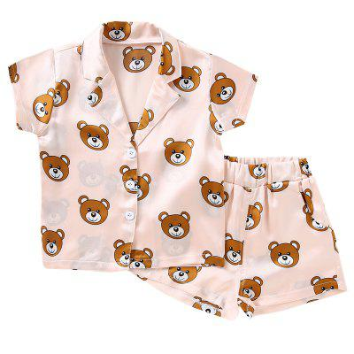 Girls Home Bear Pyjamas Set