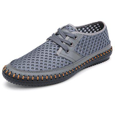 Men Casual Shoes Lace-up Mesh Fabric