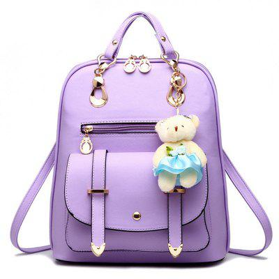 YO0930 PU Backpack with Pendant