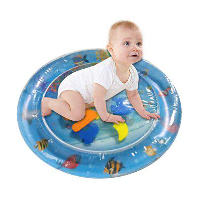 Round Blue Inflatable Water Cushion