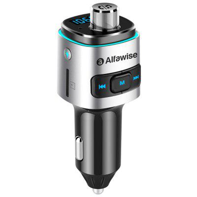 Alfawise QC3.0 Bluetooth 4.2 FM Transmitter Dual USB Ports Car Charger