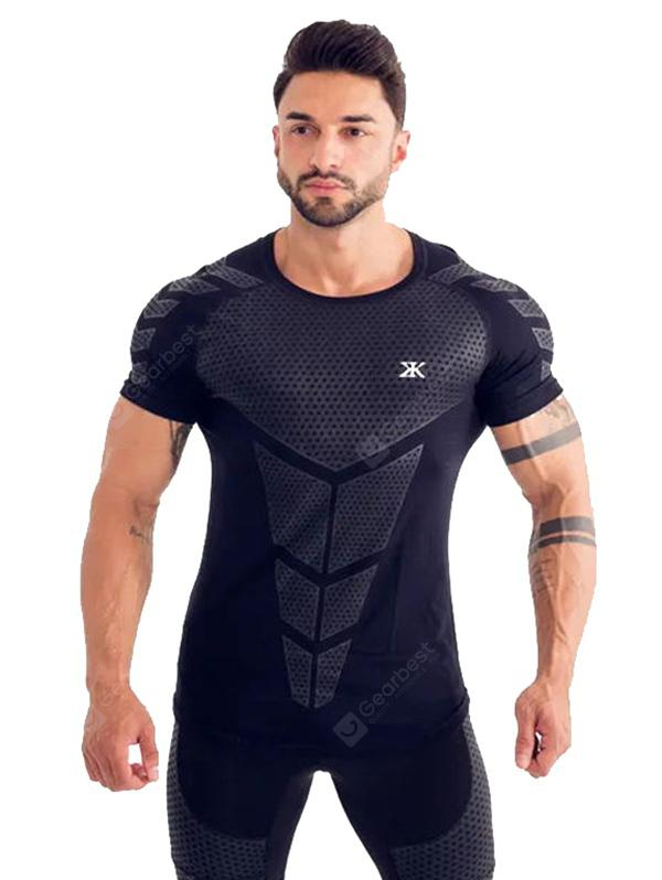 T209 Men's Sports Quick Dry Breathable Skinny Training T-shirt