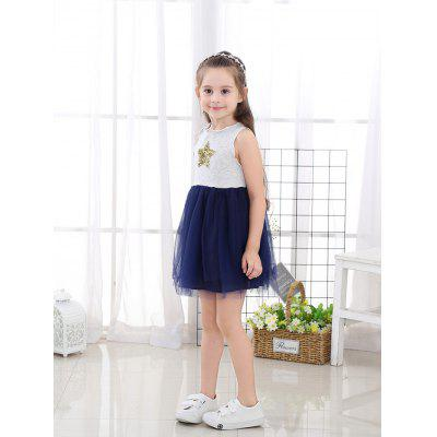 1135 Spring Summer Dress Girls Cotton Tulle One Piece Cloth