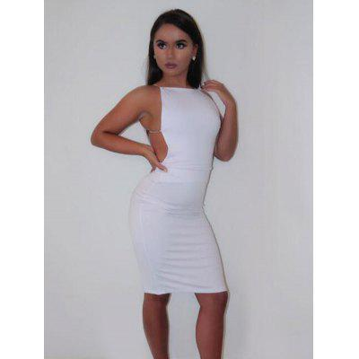 Tight Cocktail Party Backless Dress
