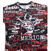 Men Summer Creative 3D Printing Fat Short Sleeve Fashion Street T-shirt - MULTI-A