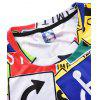 Men Summer Creative 3D Printing Fat Short Sleeve Fashion Street T-shirt - MULTI-E