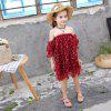 1134 Girls Starfish Dress Mesh off-shoulder rok - ROOD