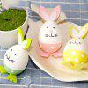 Easter Bunny Eggs DIY Plastic Painted Crafts Decorations Birthday Gifts Children Educational Toys - MULTI