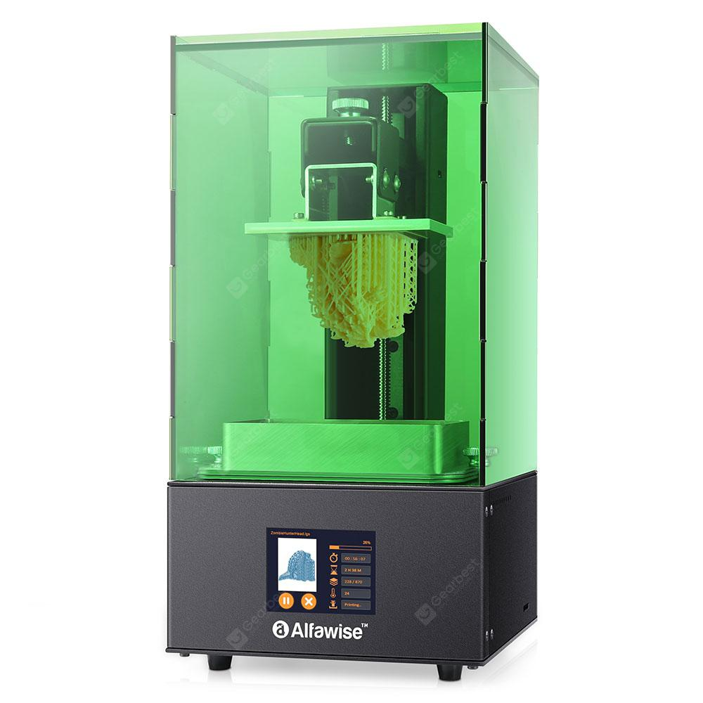 Alfawise W10 UV LCD Resin 3D Printer - Green EU Plug 4