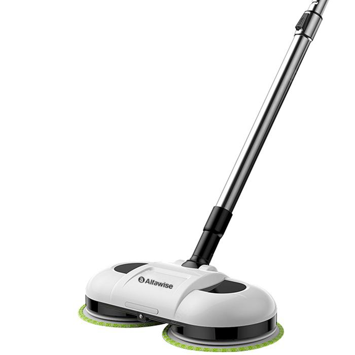 Alfawise F528A Wet And Dry Rechargeable Mopping Robot for Cleaning Hardwood Floors - White