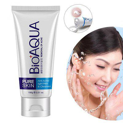 BIOAQUA YQ - 100 Acne Treatment Facial Cleanser Black Head Remove Oil-control Deep Cleansing Foam Shrink Pores