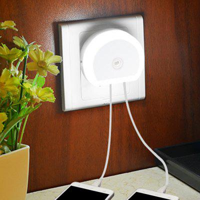 Utorch B07 Dual USB Ports Adapter Charger Night Light