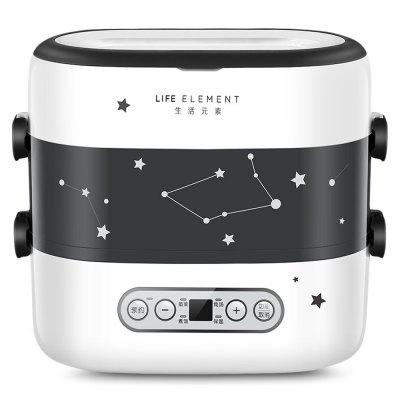 LIFE ELEMENT DFH - F1519 Smart Appointment Timing Electric Lunch Box with Double-layer Four Ceramic Liner