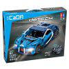 CaDA C51053 High Simulation Modeling Sports Theme Building Block Remote Control Car - BLUE