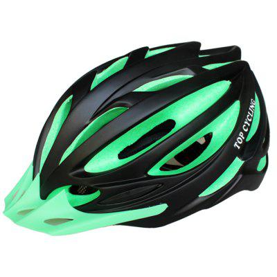 TOP CYCLING Road Mountain Bicycle Helmet with Light