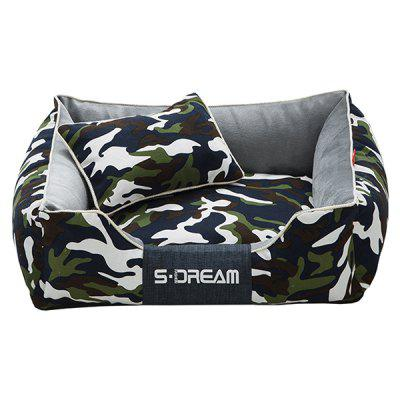 S.Dream Durable Canvas Camouflage Pet Bed