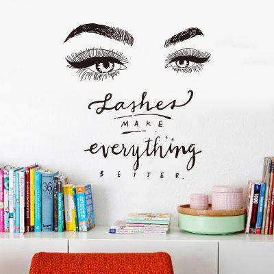 Lashes Make Everythings Better Creative Wall Stickers